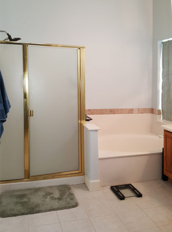 Before-Master Bath Remodel