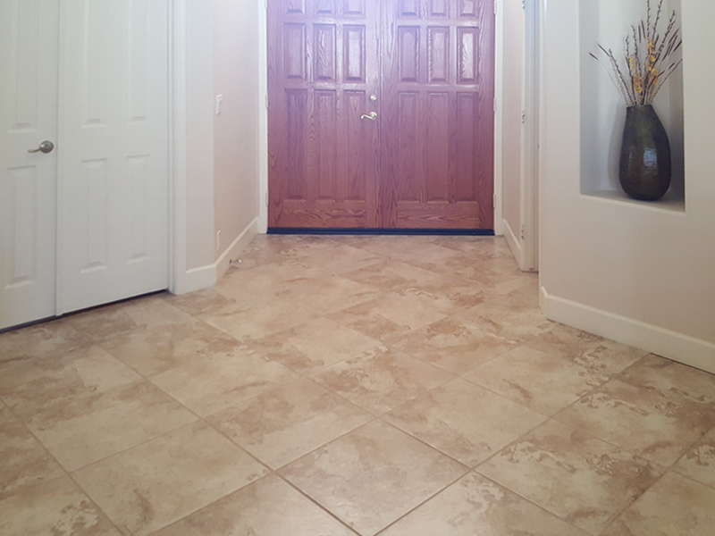 Before-Flooring Front Entry