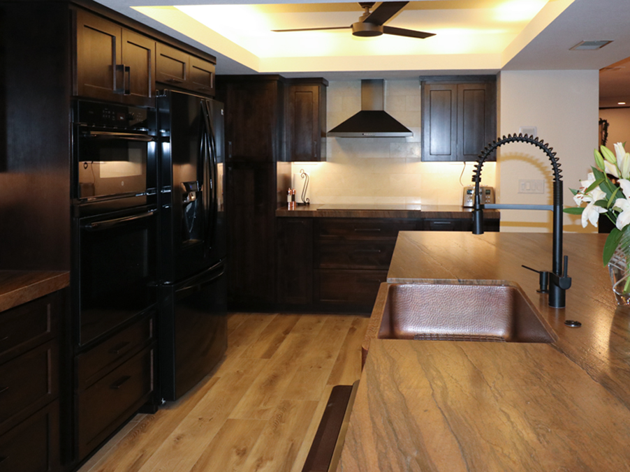After-New Countertops and Copper Sink